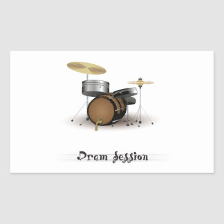 Dram session rectangular sticker