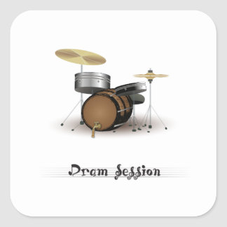 Dram session square sticker