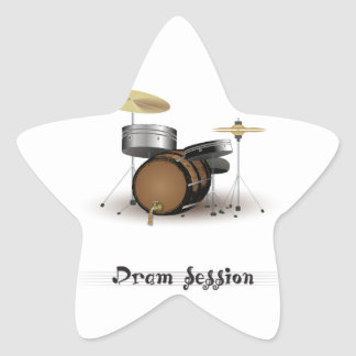 Dram session star sticker