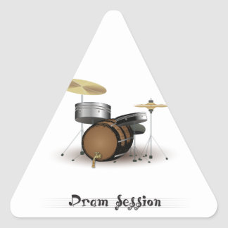 Dram session triangle sticker