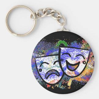 Drama: A Splash of Technicolor Basic Round Button Keychain