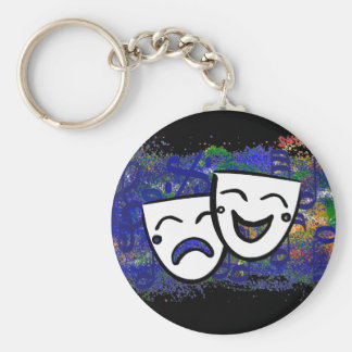 Drama: A Splash of Technicolor Music Keychain