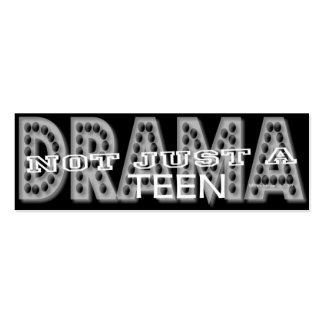 Drama adolescente - tarjeta personal de los medios
