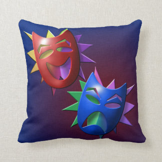 Drama and Comedy Masks Throw Pillows