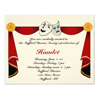 Theatre Invitations & Announcements | Zazzle