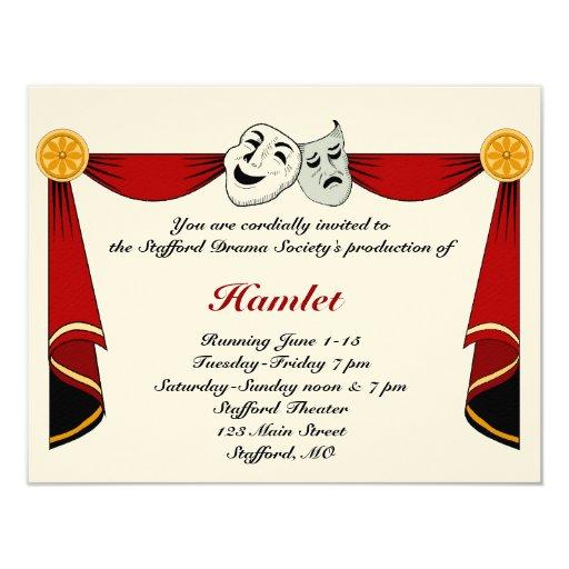 Drama and Theater Invitation