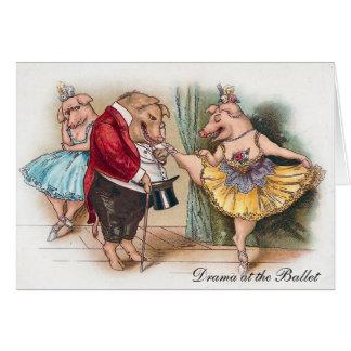 Drama at the Ballet Card
