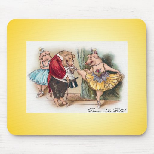 Drama at the Ballet Mouse Pad