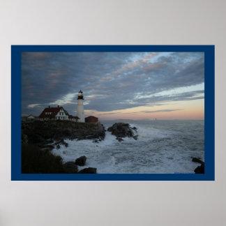 Drama By The Sea Print