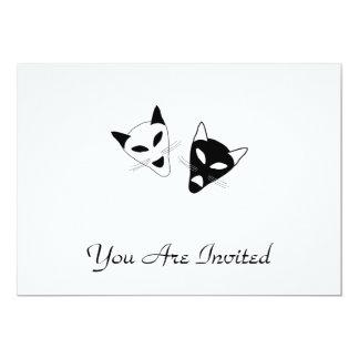 Drama Cat Masks Card