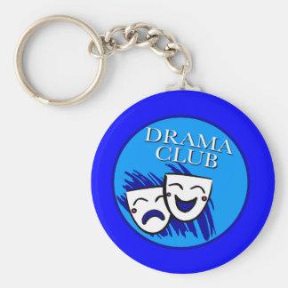 Drama Club Badge Basic Round Button Keychain