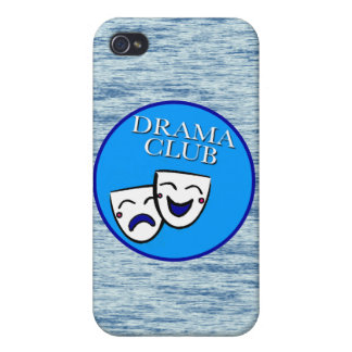 Drama Club Badge with static background Case For iPhone 4