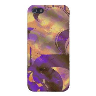 drama comedy masks purple yellow iPhone SE/5/5s case