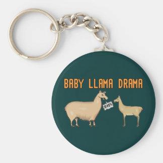 Drama de la llama del bebé llavero redondo tipo pin