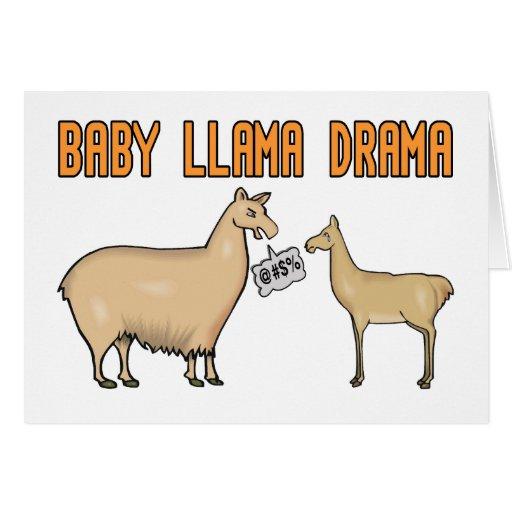 Drama de la llama del bebé tarjeton