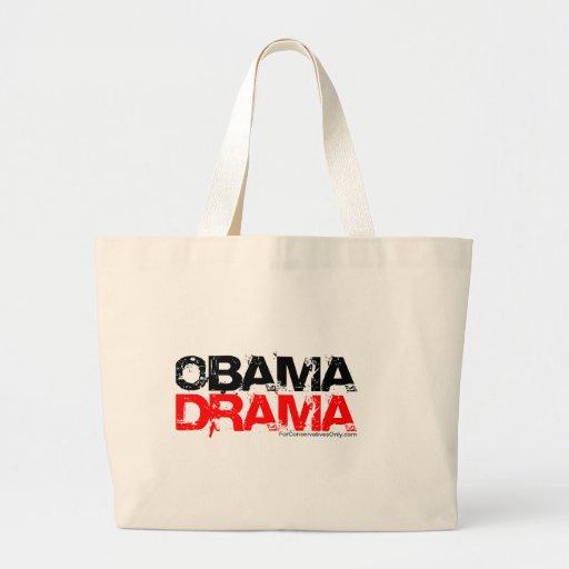 Drama de Obama Bolsa Tela Grande