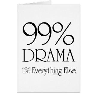 Drama del 99% tarjeta de felicitación