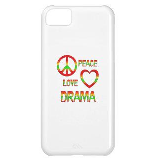 Drama del amor de la paz funda para iPhone 5C