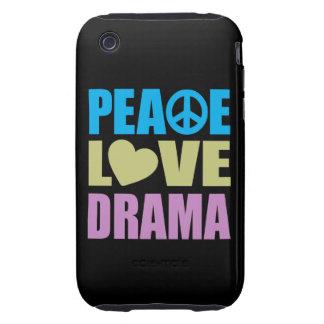 Drama del amor de la paz funda resistente para iPhone 3