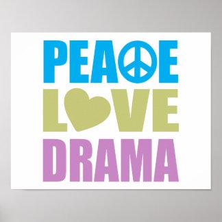 Drama del amor de la paz poster