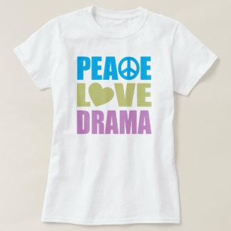 Drama del amor de la paz remeras