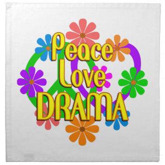 Drama del amor de la paz servilletas