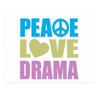 Drama del amor de la paz postal