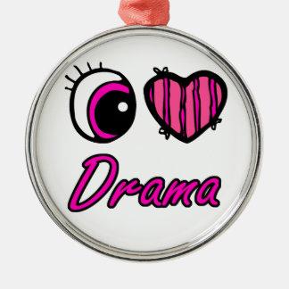 Drama del amor del corazón I del ojo de Emo Adorno Redondo Plateado