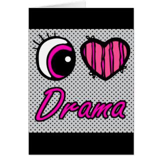 Drama del amor del corazón I del ojo de Emo Tarjeta De Felicitación
