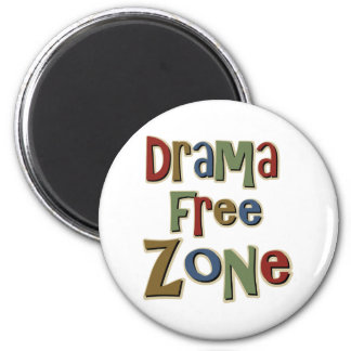 Drama Free Zone 2 Inch Round Magnet