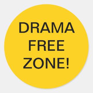 DRAMA FREE ZONE STICKER