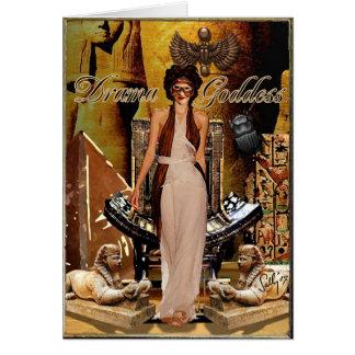 Drama Goddess Collage Card