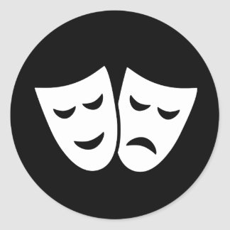 Drama Ideology Classic Round Sticker