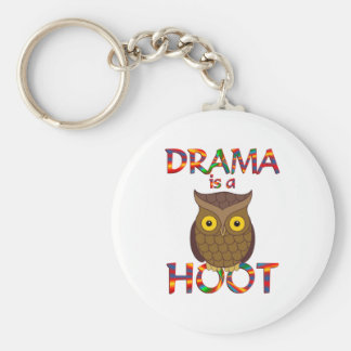 Drama is a Hoot Basic Round Button Keychain
