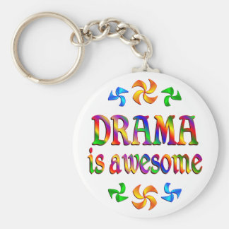 Drama is Awesome Basic Round Button Keychain