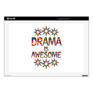 """Drama is Awesome Decals For 17"""" Laptops"""