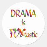 Drama is FUNtastic Classic Round Sticker
