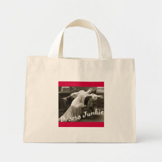 drama junkie canvas bags