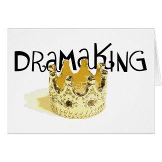 Drama King - Blank Greeting Card