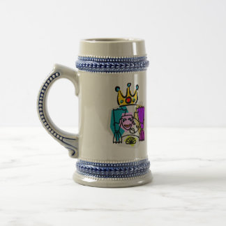 Drama King with Drama King in script letters Beer Stein