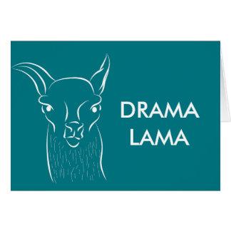 Drama lama greetings card