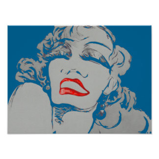 Drama Lips CHANGE COLOR ~ Poster 16x12