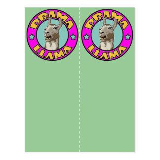 Drama Llama, 2x bookmark postcard