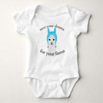 Drama llama baby bodysuit
