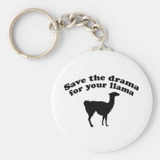 Drama Llama Basic Round Button Keychain