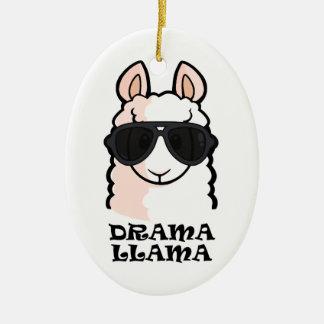 Drama Llama Ceramic Ornament
