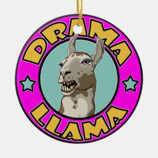 Drama Llama, Ceramic Ornament