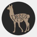 Drama Llama Classic Round Sticker