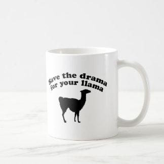 Drama Llama Classic White Coffee Mug