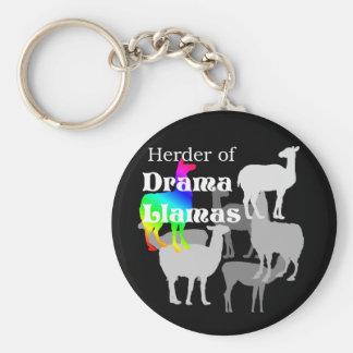 Drama Llama Herder Keychain